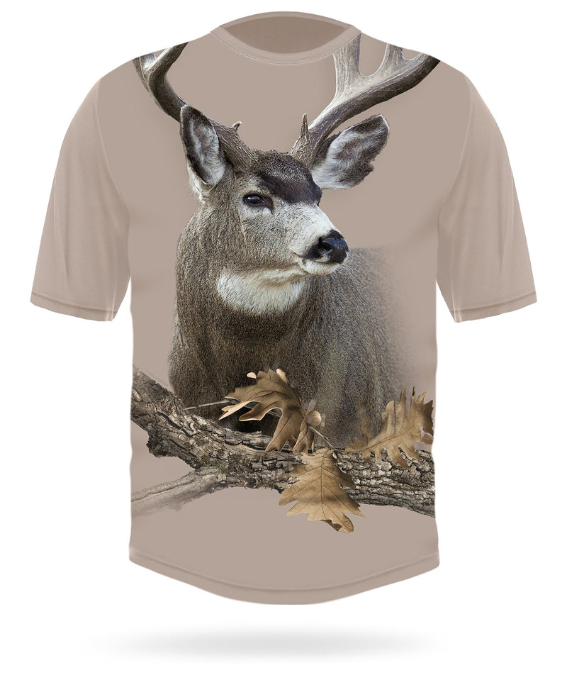 Mule Deer T-shirt Short Sleeve Camo - HILLMAN® hunting gear
