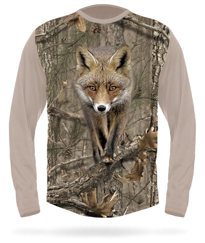 Red Fox T-shirt long sleeve Camo by HILLMAN®