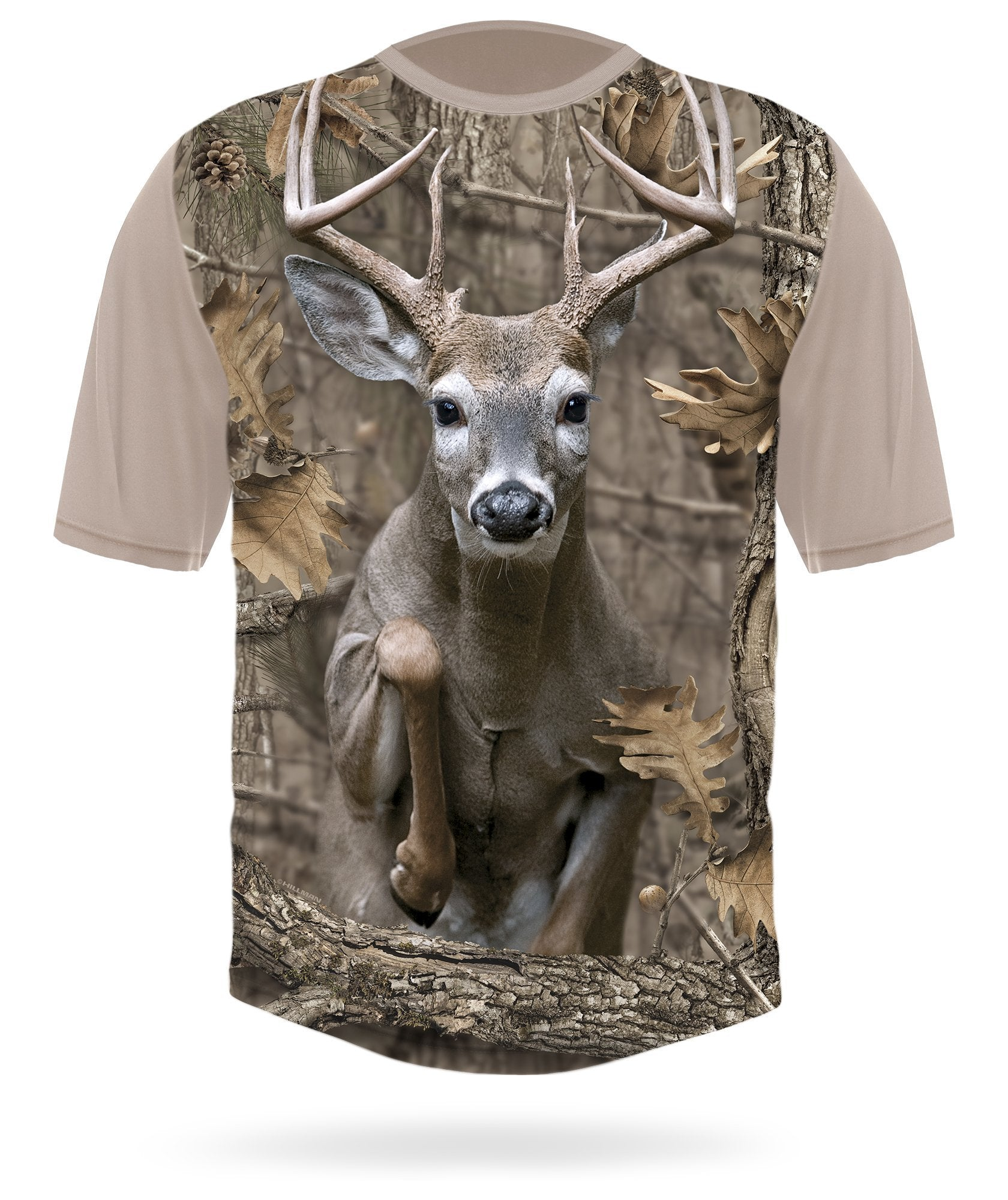 Whitetail Deer T-shirt Jumping Short sleeve camo -  HILLMAN® hunting gear