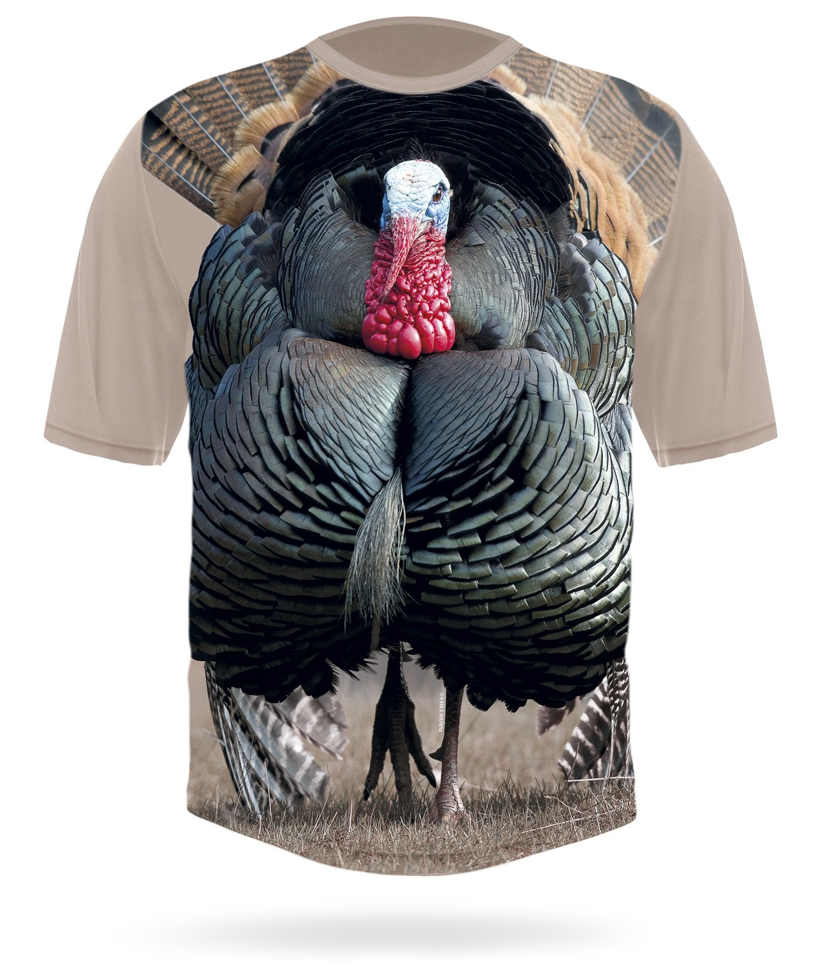 Wild Turkey Shirt Short Sleeve Field Scene - HILLMAN® hunting gear