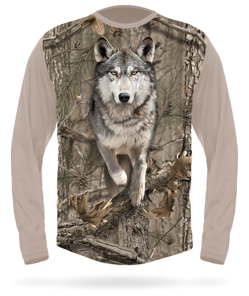 Wolf T-Shirt - Long Sleeve | Hillman Hunting