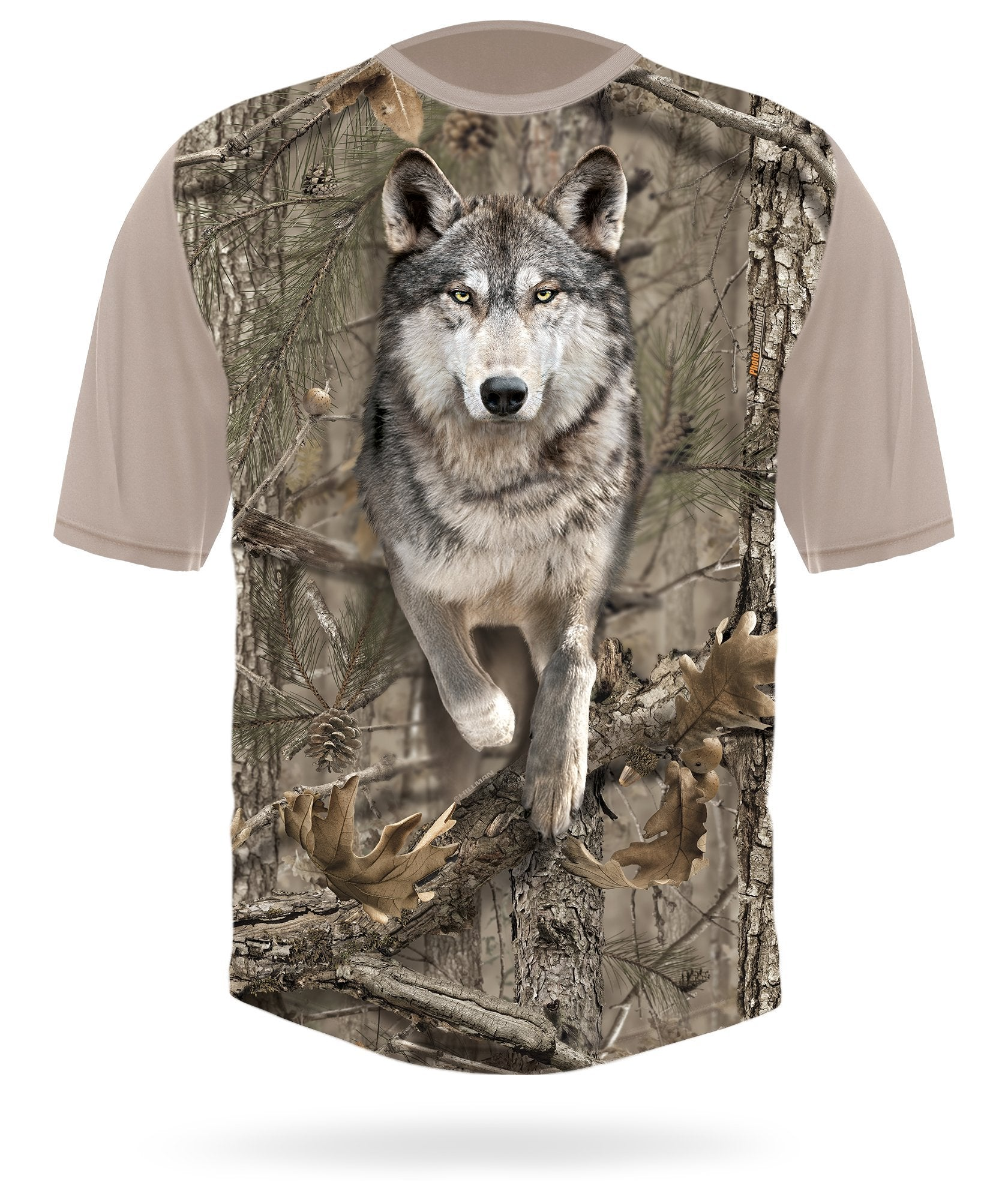 Wolf Shirt Short Sleeve Camo by HILLMAN® hunting gear