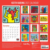 Keith Haring 2021 Wall Calendar Back Side