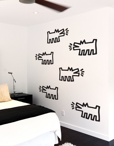 Pack of Dogs Wall Decals (Set of 3) - Keith Haring Pop Shop