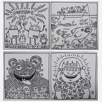 Coloring Pages Keith Haring Drawing throughout Keith Haring ... | 400x400