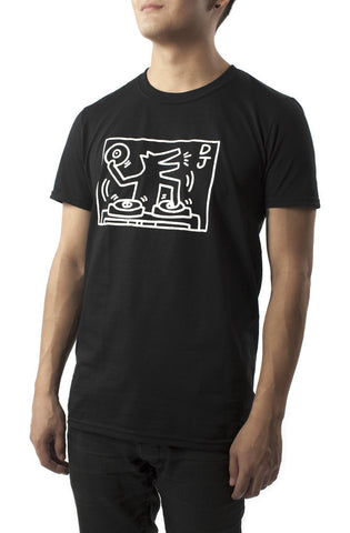 DJ Dog (Black) T-Shirt - Keith Haring Pop Shop