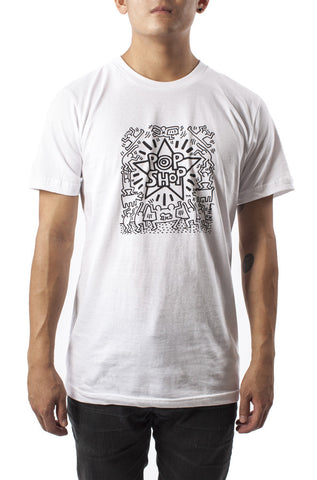 Pop Shop (White) T-Shirt - Keith Haring Pop Shop