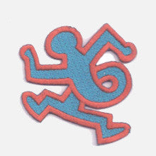 Twisting Man (Blue on Red) Patch