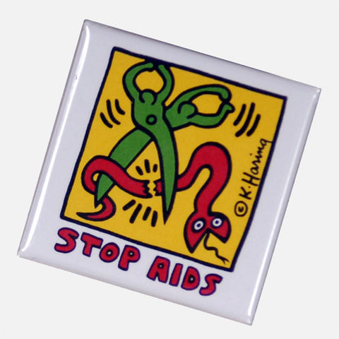 Stop AIDS Pin - Keith Haring Pop Shop