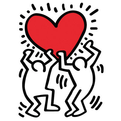Untitled Heart Wall Decal - Keith Haring Pop Shop