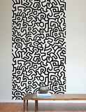 Pattern Wall Tiles Wall Decal - Keith Haring Pop Shop