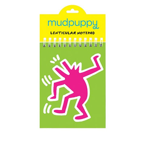 Dancing Dog Lenticular Notepad - Keith Haring Pop Shop