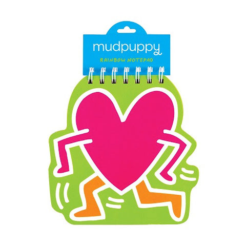 Heart Rainbow Notepad - Keith Haring Pop Shop