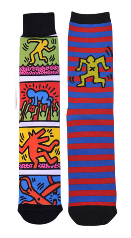 Collage Print (Two Pack) Socks - Keith Haring Pop Shop