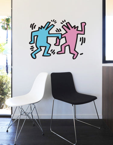 Dancing Dogs Wall Decal