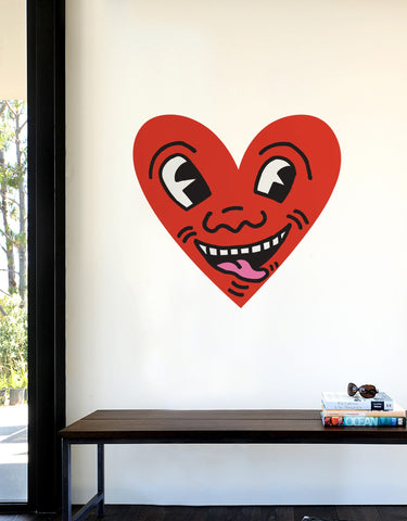 Heart Face Wall Decal - Keith Haring Pop Shop