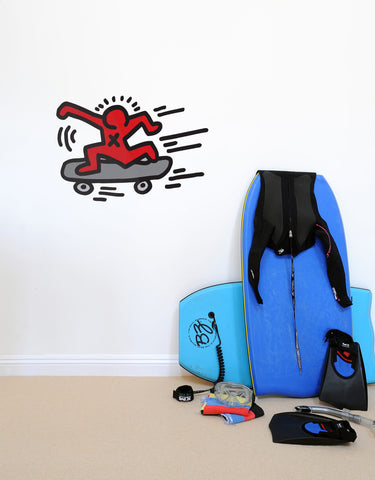 Skater Wall Decal - Keith Haring Pop Shop