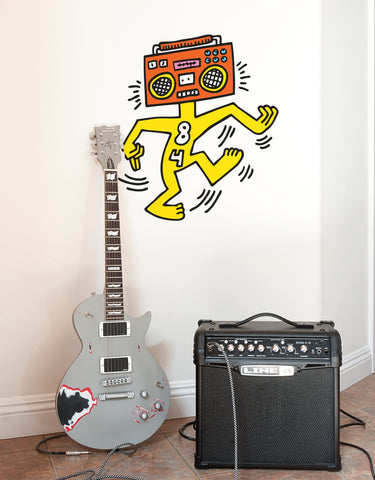 Mr Boombox Wall Decal
