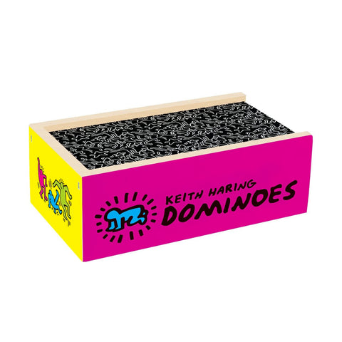 28 Double Sided Wooden Dominoes - Keith Haring Pop Shop