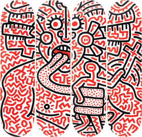 Man and Medusa Skateboard Deck - Keith Haring Pop Shop
