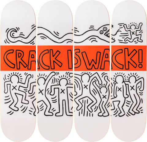 Crack is Wack Skateboard Deck - Keith Haring Pop Shop