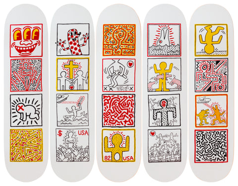 One Man Show Skateboard Deck - Keith Haring Pop Shop