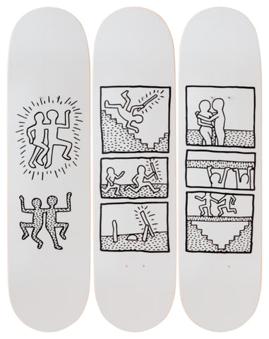 Untitled (1981) Skateboard Deck - Keith Haring Pop Shop