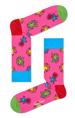 Dancers (on Pink) Socks - Keith Haring Pop Shop