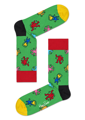 Dancers (on Green) Socks - Keith Haring Pop Shop