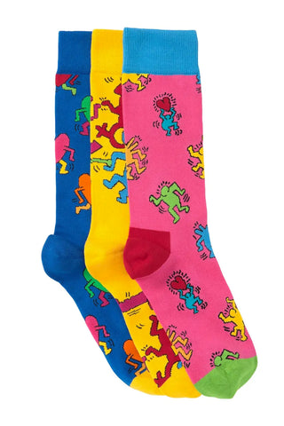 Gift Box (Set of 3) Socks - Keith Haring Pop Shop