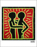 Untitled, 1982 (Couple in Black, Red, and Green) Poster