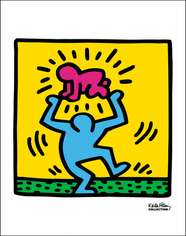54cc4da20 Keith Haring Untitled (Figure holding Radiant Baby) Poster – Keith ...
