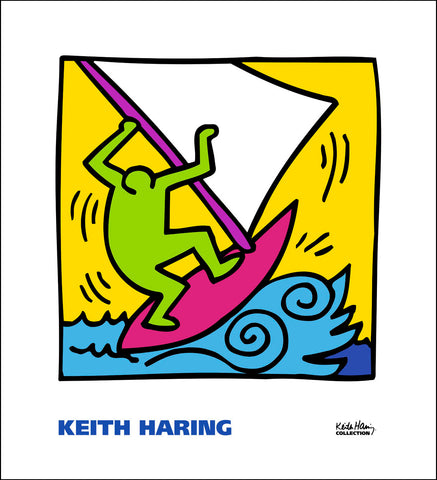 Untitled (Figure Kitesurfing) Poster
