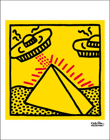 Untitled, 1984 (Pyramid with UFOs) Poster