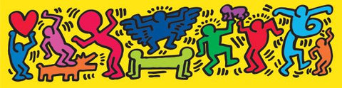 Untitled, 1987 (Figures on Yellow) Poster
