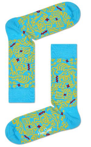 Figures (on Blue) Socks - Keith Haring Pop Shop