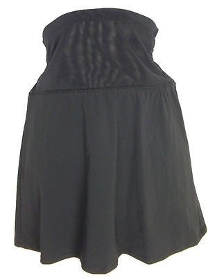 Assets By Sara Blakely Sheer Midriff Skirtini #1762 in Black