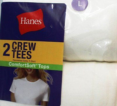 New Hanes Women's Assorted Jersey V-Neck T-Shirts Style # 50W2WH In White