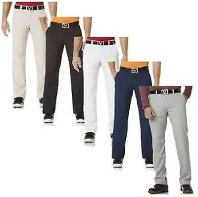 Men's Callaway Flat Front 2Way Stretch Golf Trousers Pants Style #BEFB0041