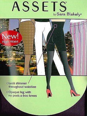 Assets by Sara Blakely High-Waist Terrific Tights Hosiery Style 182 In Black Berry