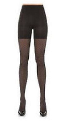 Spanx Assets By Sara Blakely Textured Shaping Lattice Tights 1655 in Black