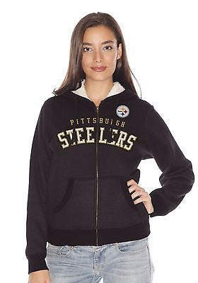 New G-III Sports Ladies' NFL Baseline Hoodie Pittsburgh Steelers Style #RJ549