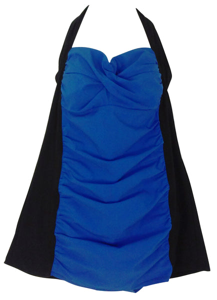 Assets By Spanx Halter Swim Dress 2048 in Real Royal Blue