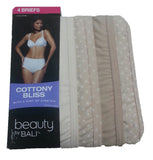 Bali Women's UG40WP Cottony Bliss Brief 4-Pack Assorted