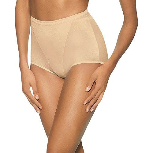Hanes Women's Moderate Control with Tummy Panel Brief 2 Pack