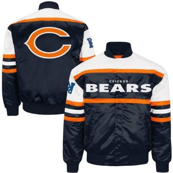 Men's Chicago Bears Navy Blue Era Satin Jacket