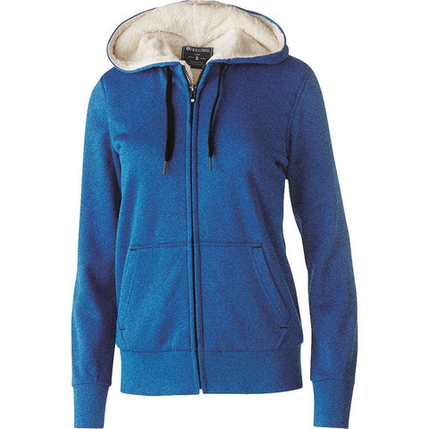 Holloway Ladies' Polyester Fleece Full Zip Hooded Artillery Sherpa Jacket Style 229374