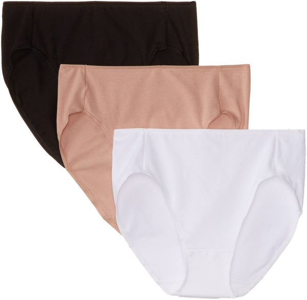 Hanes Women's Smooth Illusion High-Cut Panties (Pack of 3)
