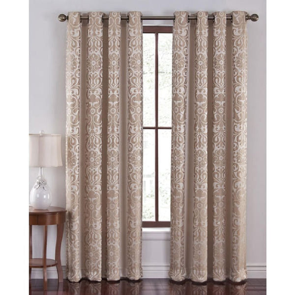 Cannon Como Jacquard Grommet Curtain Panel