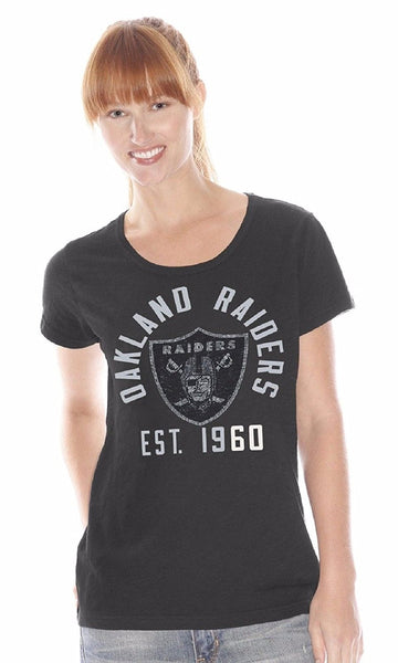 New G-III Sports Ladies' NFL Shutout Tee Style #RJ548 Raiders, Redskins
